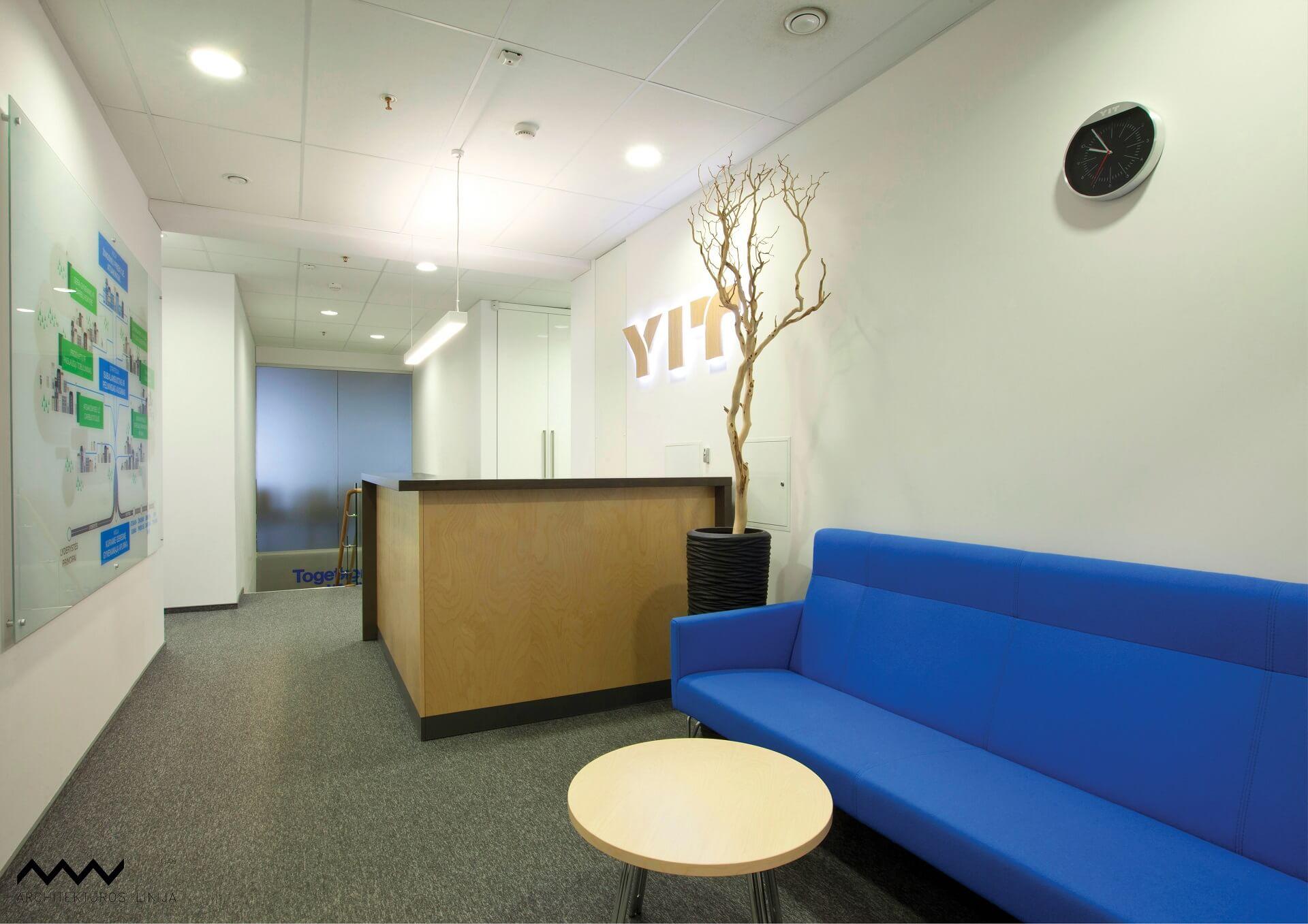 YIT LIETUVA biuro interjeras Architektų linija - PST projektai