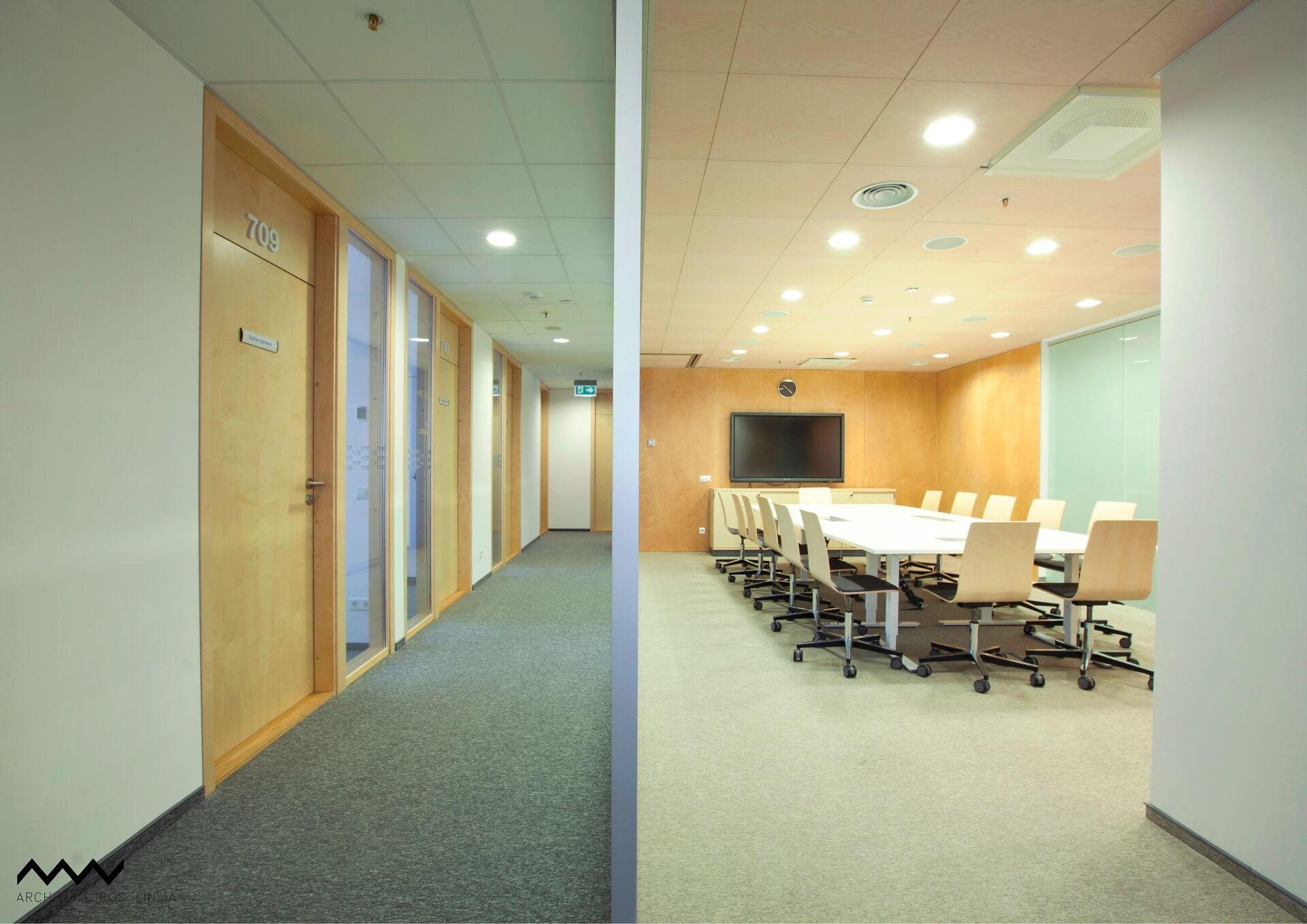 YIT LIETUVA biuro interjero projektas Architektų linija - PST projektai