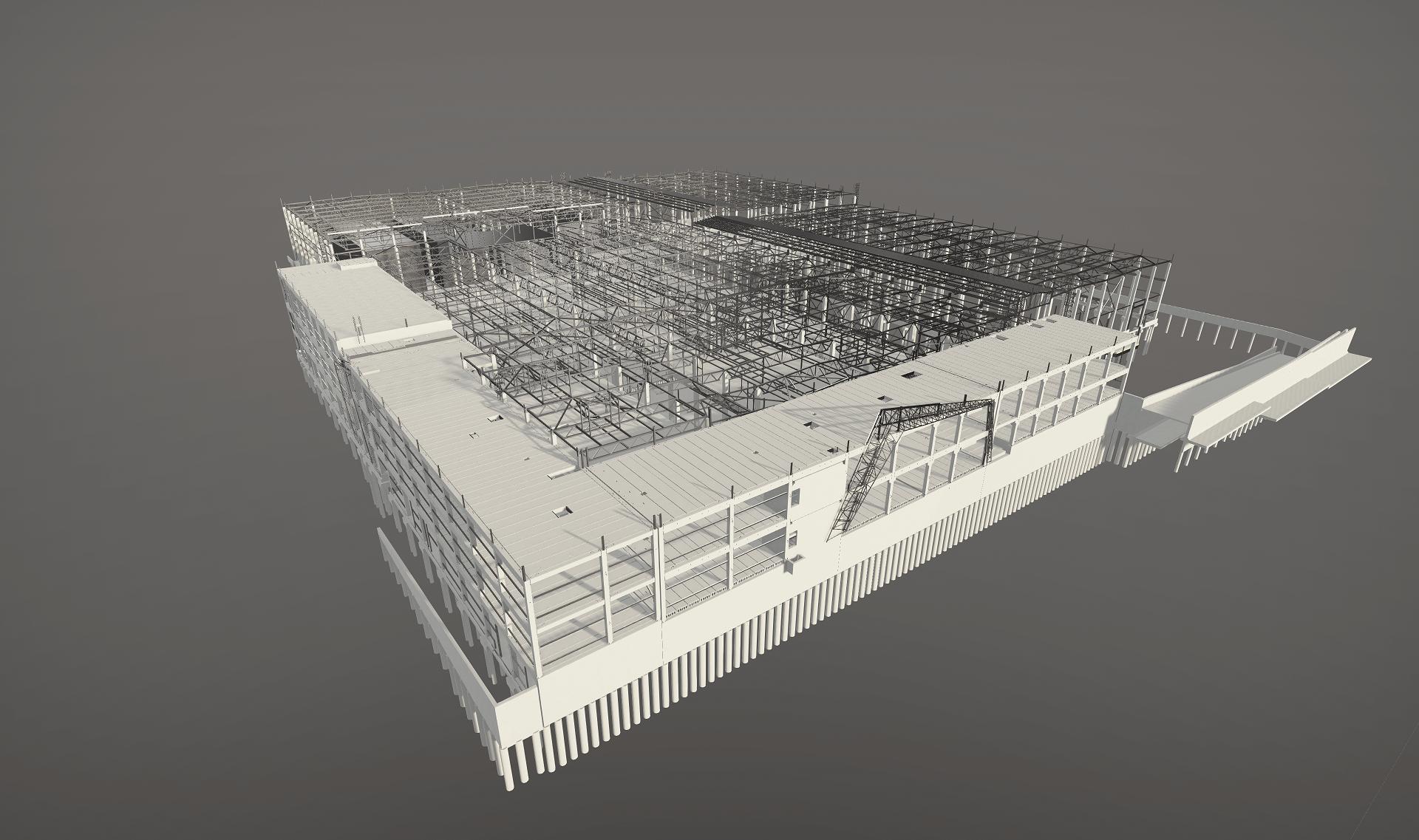 ELMORIS gamybos ir sandėliavimo paskirties pastato integruotas BIM projektavimas