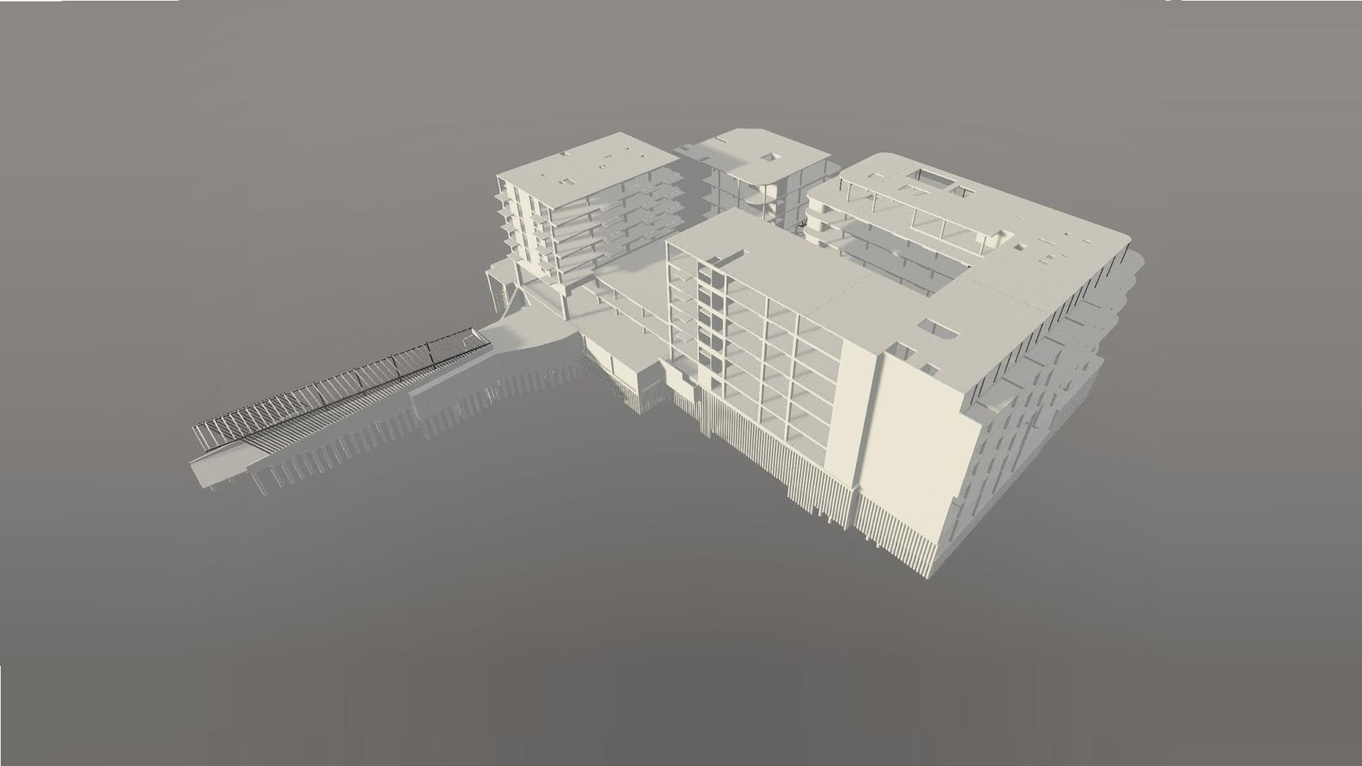 Commercial building and underground parking BIM project