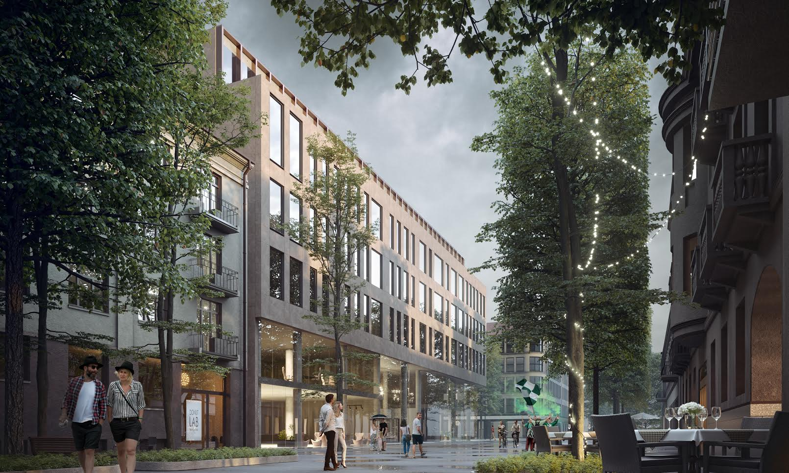 Commercial building and underground parking project