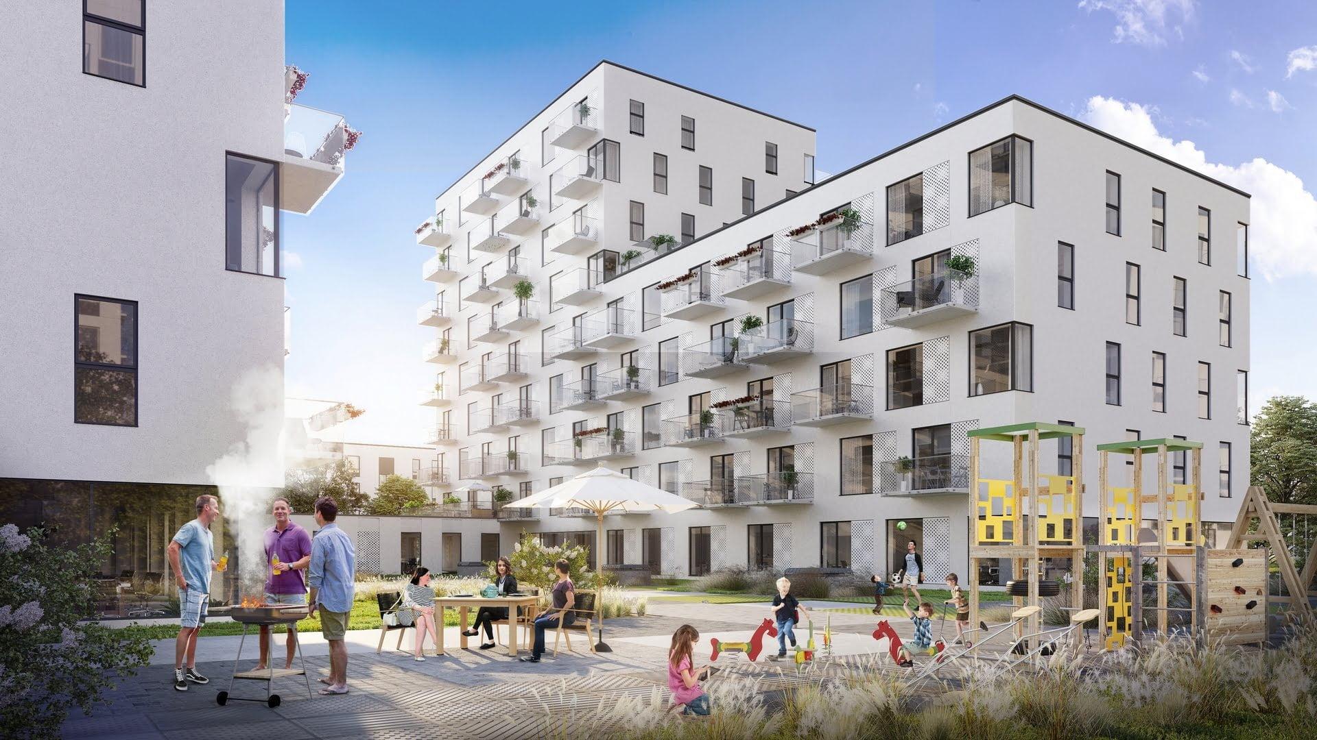 Daugiabučių namų projektas Vilniuje Birželio namai