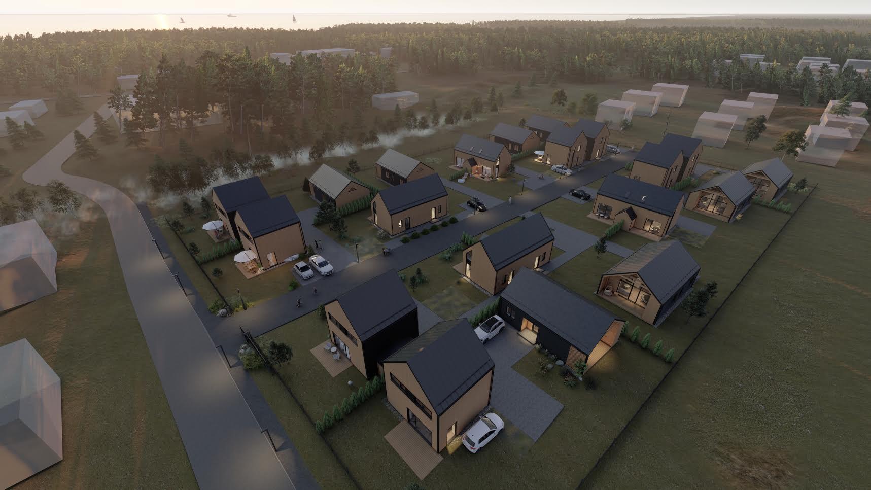 Gyvenamųjų namų kvartalas Palangoje - PST projektai