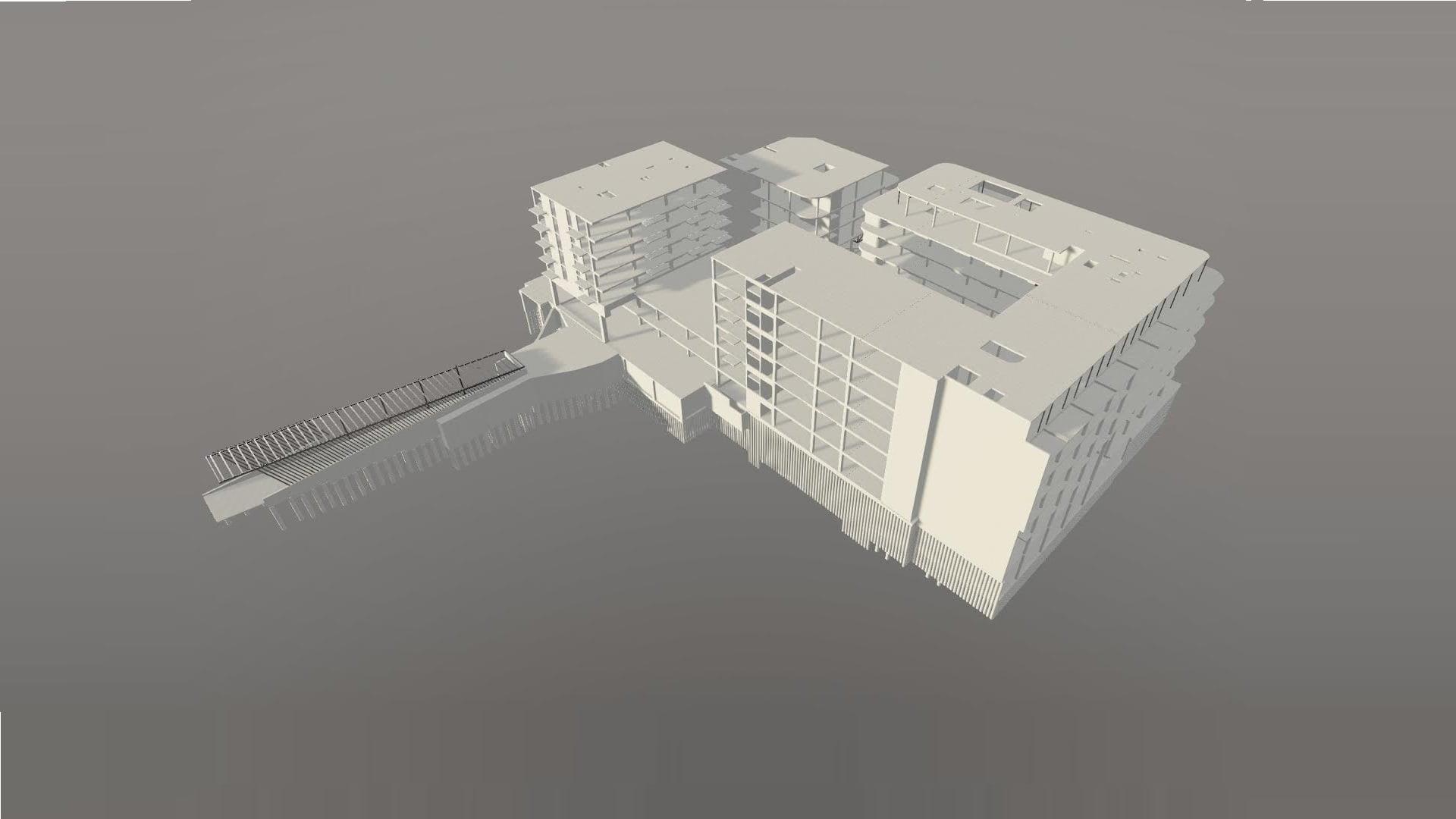 Komercinio pastato su požeminiu parkingu BIM projektas