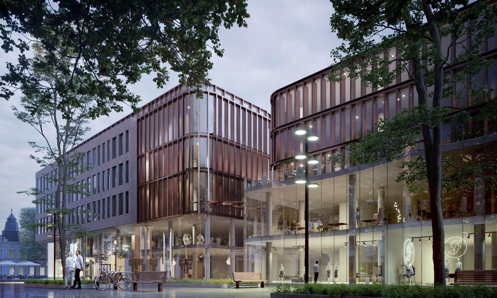 Merkurijus commercial building and underground parking project