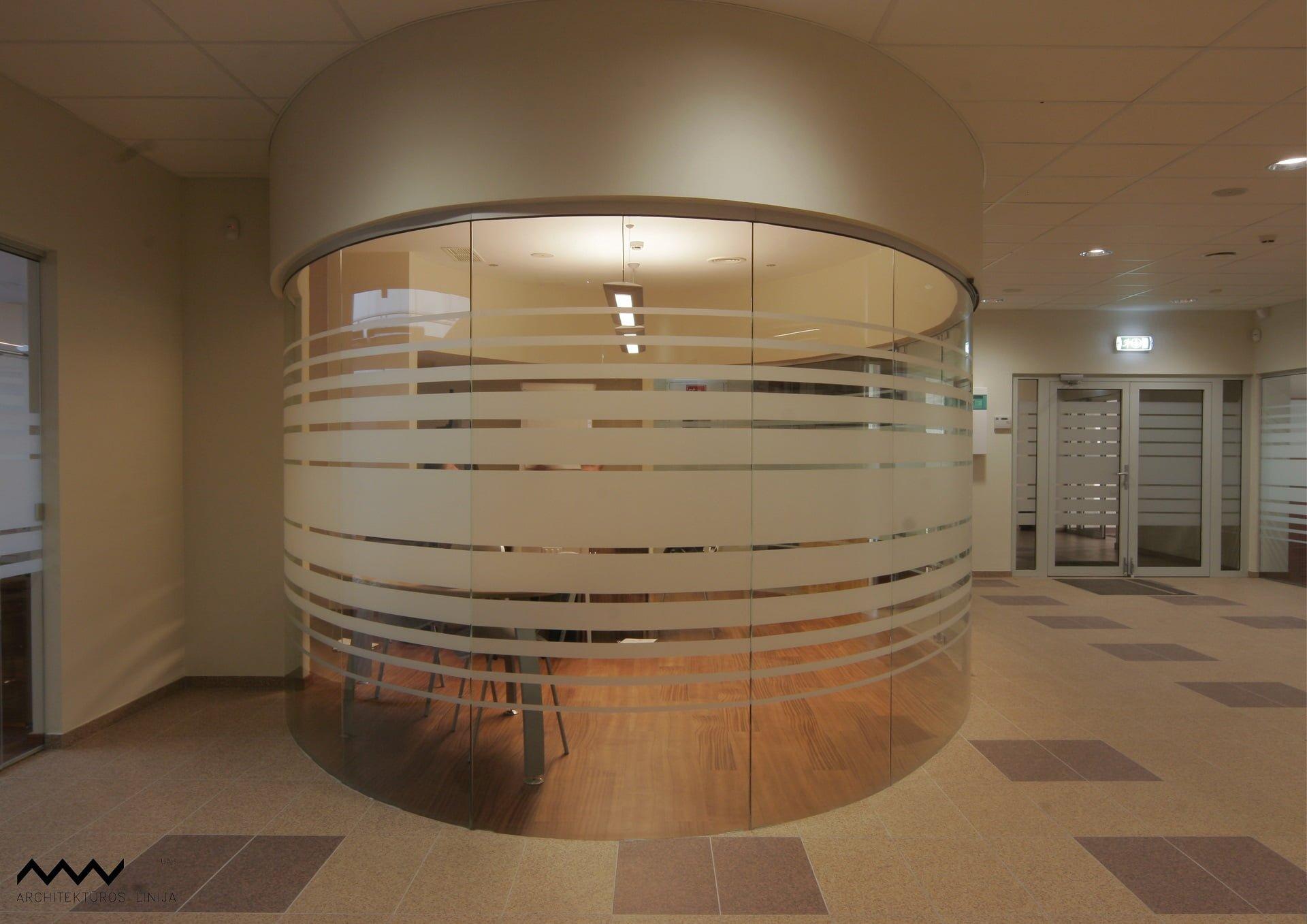 Santaros klinikos administracijos patalpų Architektų linija interjero projektas - PST projektai