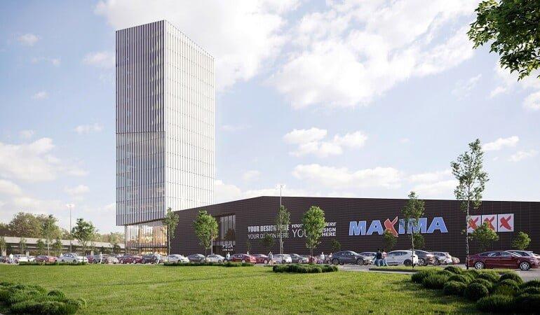 Prekybos centro Mega Klaipėdoje projektas
